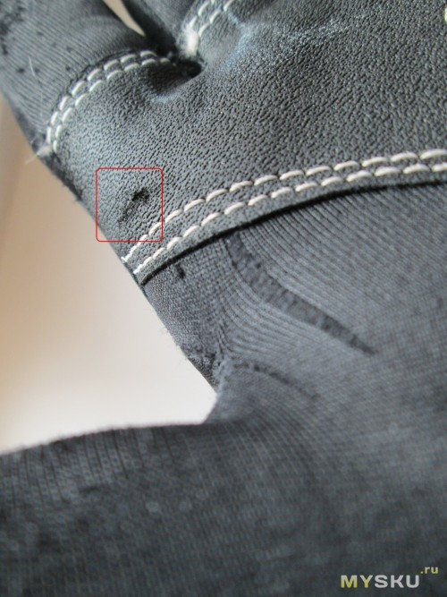Windstopper gloves - Усиливающие накладки вполне нормально сохранились, хотя и на них виднеются потёртости