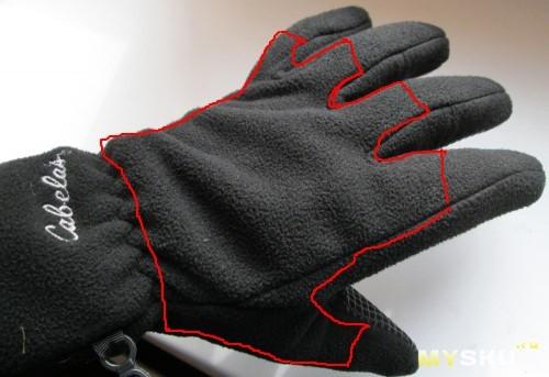 Кабелас - перчатка с накладкой