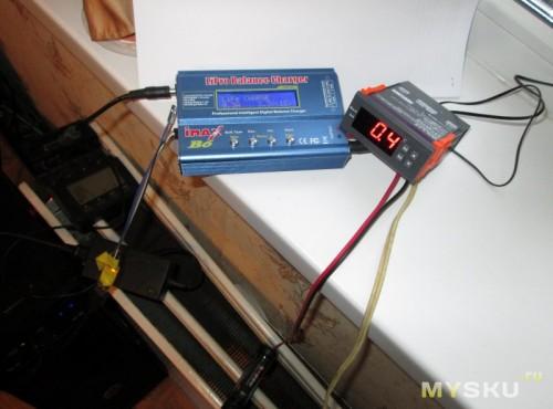 Тестовый стенд за окном. Терморегулятор и Imax b6