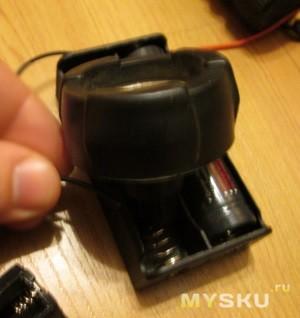 Разряд аккумулятора с помощью лампочного фонарика (с использованием бокса 2х18650)