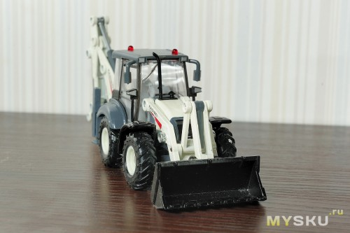 1/50 KDW TEREX STYLE BACK HOE LOADER CONSTRUCTION MODEL