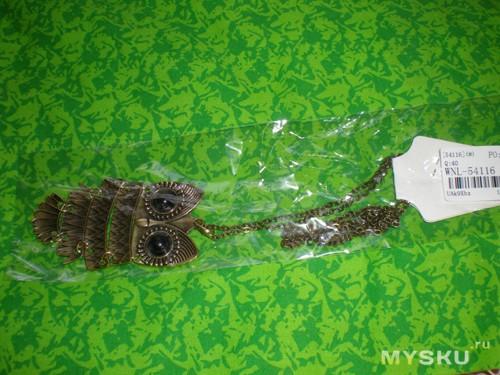 Ожерелье Сова в упаковке