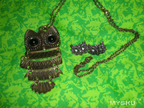 Сережки с ранее купленным ожерельем