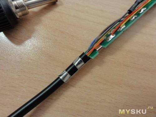 Заделка кабеля для вящей жесткости.