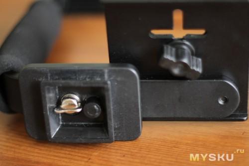 Вид снизу на крепления для камеры и площадки