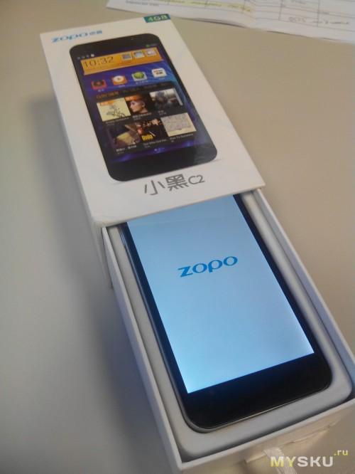 Zopo C2 - в коробке