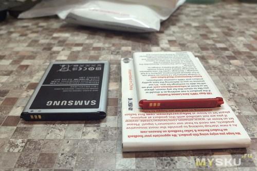 Стоковая и расширенная батареи