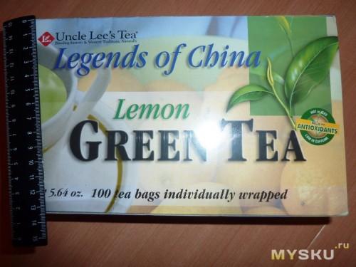 Зеленый чай с лимоном от дядюшки Ли. Коробка