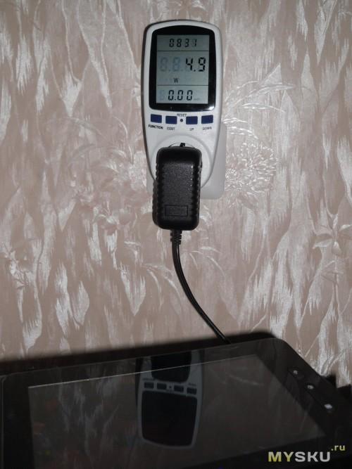 Потребление электроэнергии при зарядке Ployer MOMO9
