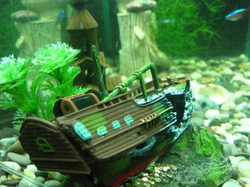 картинки затонувших кораблей для аквариума них дошли