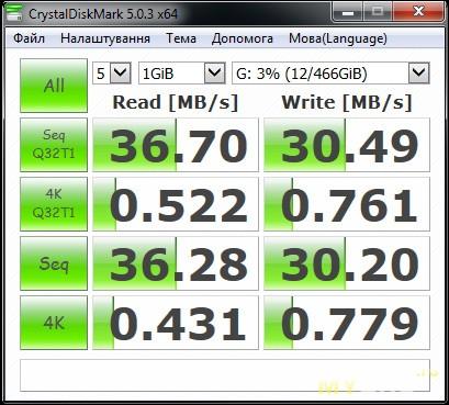 Orico 2599US3 USB 3.0 в разъёме USB 2.0 на задней панели материнской платы