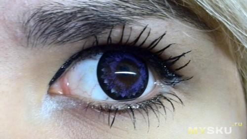Фиолетовые линзы