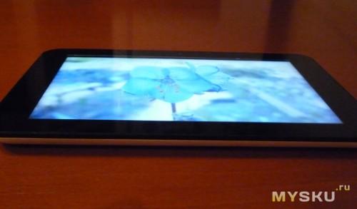 Экран при просмотре под большим углом