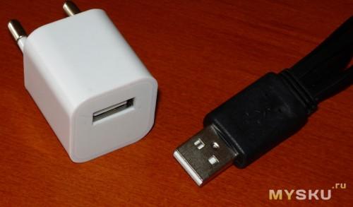 Зарядное выдает 5 вольт на USB