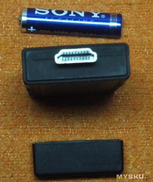 Вид со стороны разъема HDMI