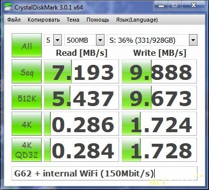 G62 & WiFi 150 Mbit/s (N)