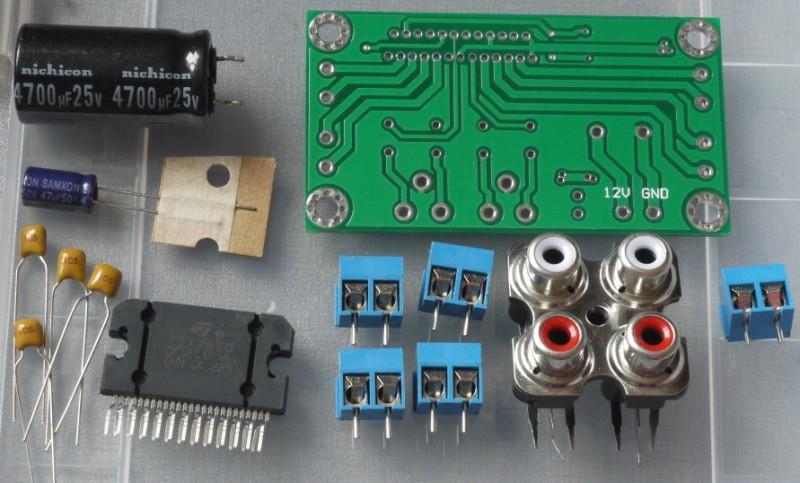 детали схемы усилителя на TDA7850