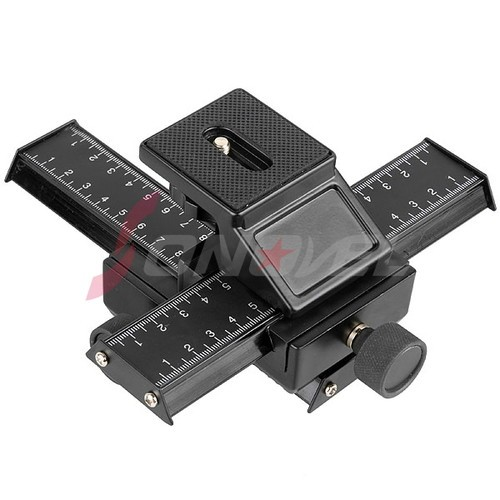 "4 way Macro Shot Focusing Rail Slider 1/4""Quick plate Tripod Stand Fo DSLR"