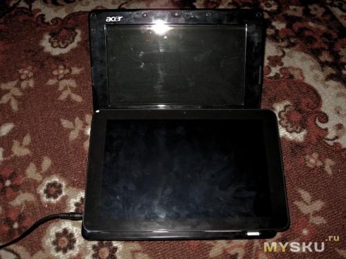 """Сравнение размеров с нетбуком 8.9"""" Acer A150"""