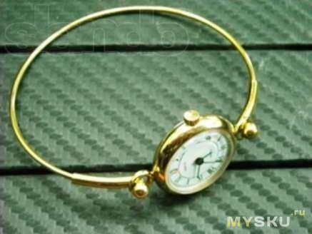 Часы чайка на жестком браслете