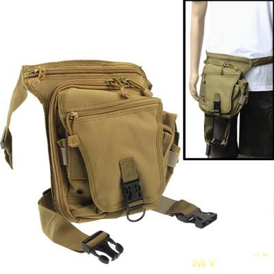 Outdoor Multi-function Motor Pockets / Leg Bag, Brown