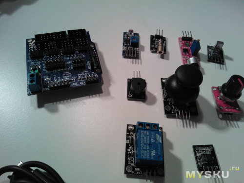 Датчики и sensor shield