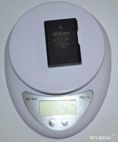 Вес родной батареи