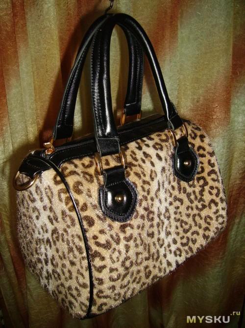 Брендовая леопардовая сумка