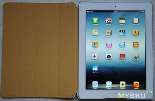Jisoncase Protective Leather Smart Cover Stand for iPad 2 3 New iPad White