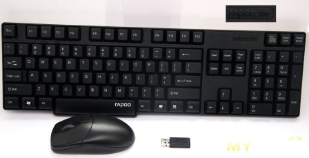 1800 2.4GHz Wireless Spill-Resistant Desktop Keyboard with Wireless Optical Mouse (1*AA/1*AA)