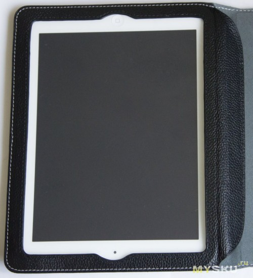 YooBao Lichee Pattern Genuine Leather Case for iPad 3/iPad 4 - Black