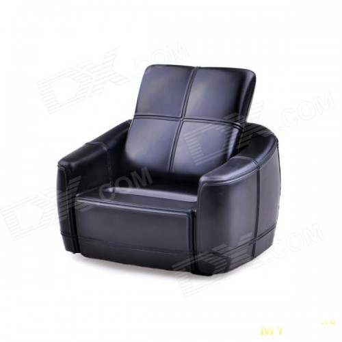Siri's Couch SC-03-SB PU Cell Phone Holder for iPhone 4 / 4S / 5 - Black