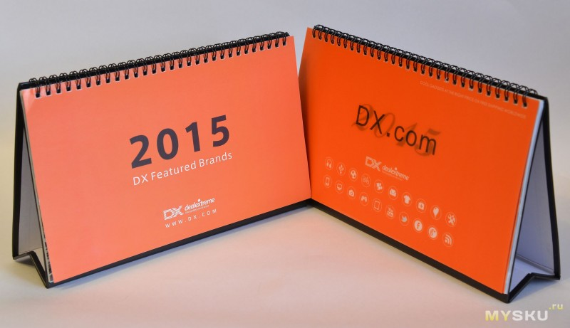 DX 2015 Desk Calendars with 12 Months' Coupon Codes (Value USD$ 500)