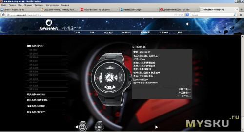 Модель на сайте
