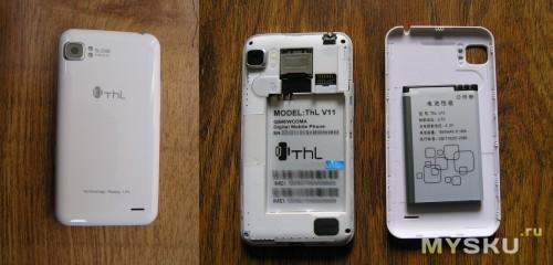 ThL V11 задняя крышка и отсек батареи