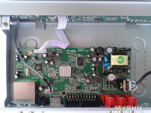 Внутренности ресивера DVB-T2