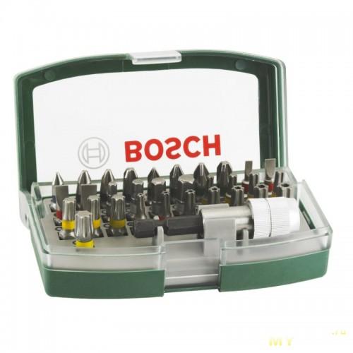 Набор бит Bosch 32 шт + держатель