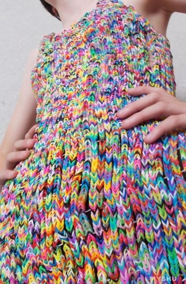 Как делают платья из резинок