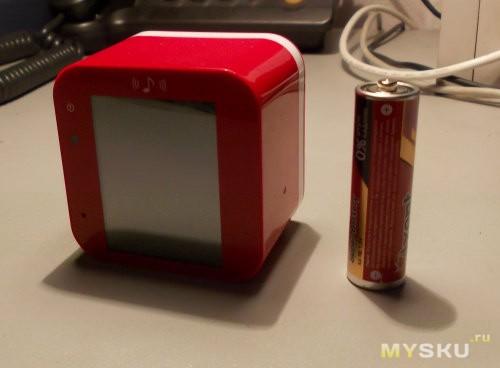 Сравнительные размеры с батарейкой