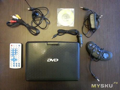 Комплектация DVD плеера