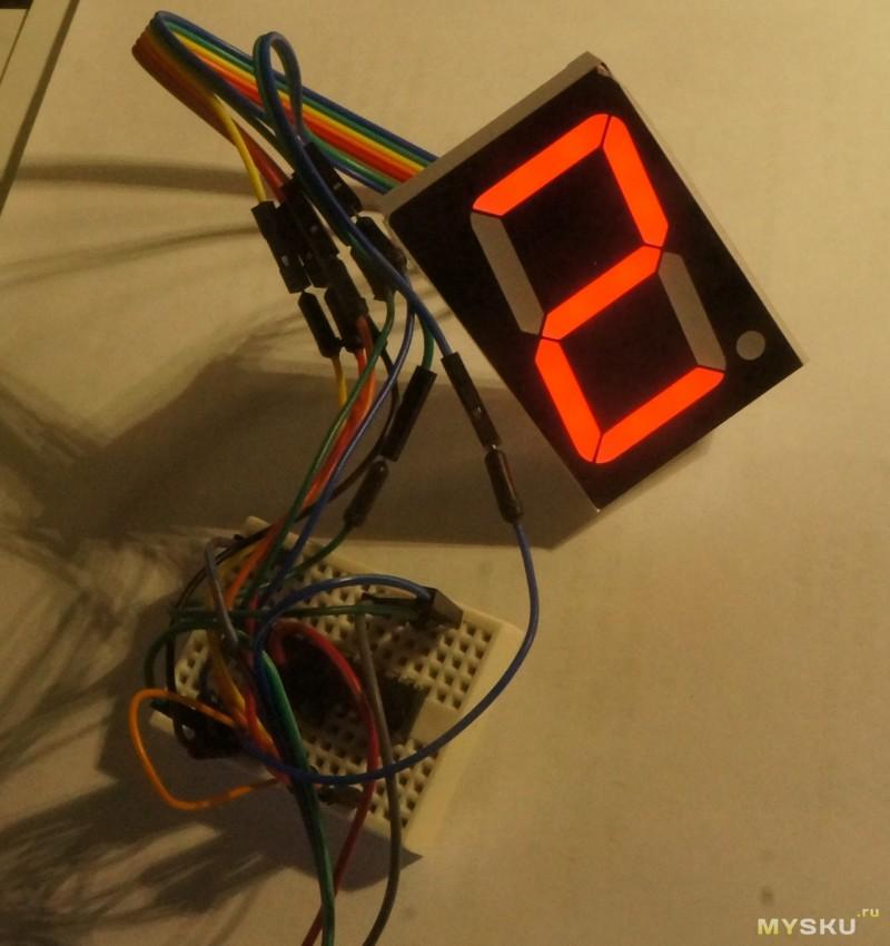 Большие семисегментные индикаторы для часов