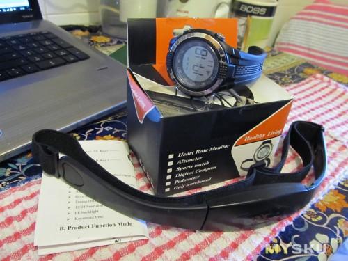 Часы-пульсометр, комплектация