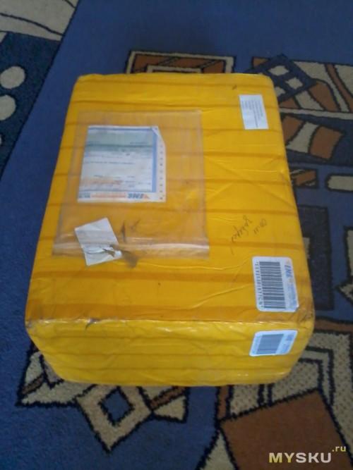 с почты коробка