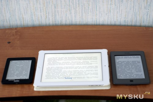 Kobo + Ipad 3 + Kindle Touch