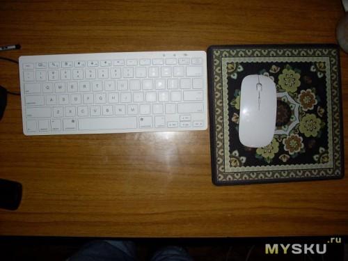 Комплект из клавиатуры, мышки и ковра