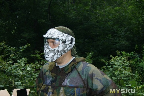 Маска пейнтбольная White Snake M-102