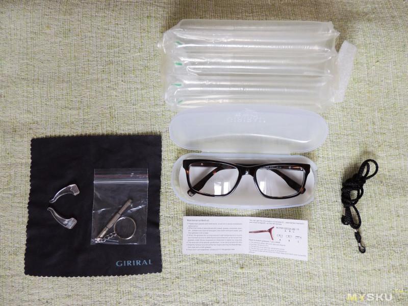 4d9f7f58d36d Комплектация богатая — чехол, салфетка, веревочка, для того, чтобы носить  очки на шее (правда, это на любителя), отвертка, силиконовые заушники, ...