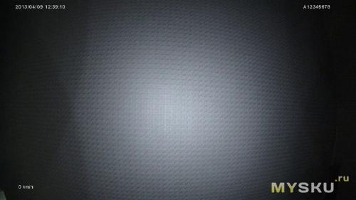 ИК-подсветка включена, ИК-фильтр открыт полностью