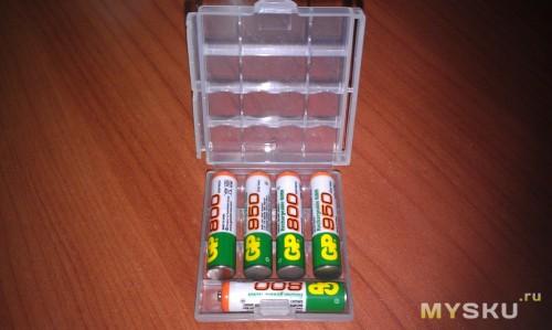 ААА батарейки в боксе