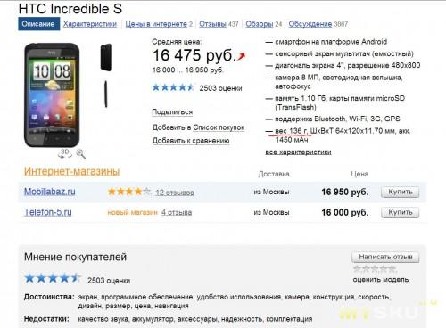 HTC Inc. S in YM